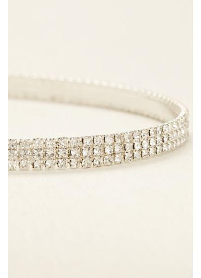 Three Row Crystal Headband - Wedding Accessories
