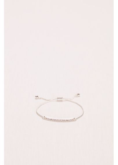 Crystal Bar Bracelet with Fringe Closure HL10010B