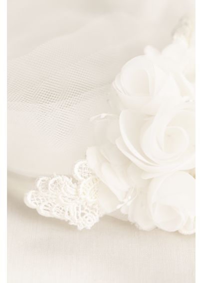 Fabric and Tulle Floral Headband  HMS251450