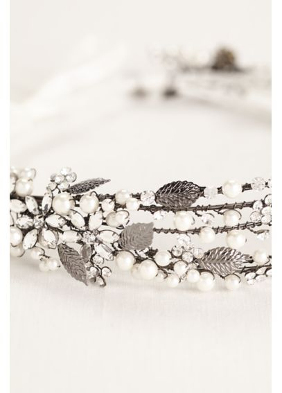 Pearl and Crystal Spray Headband HMS251453
