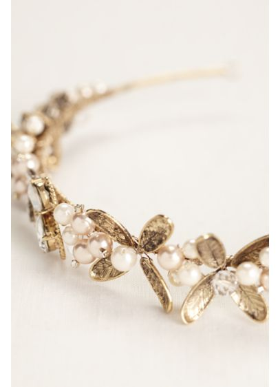 Leaf Headband with Pearls - Wedding Accessories
