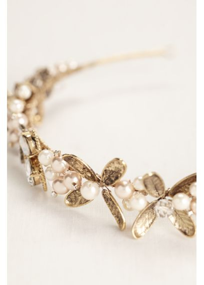 Leaf Headband with Pearls HMS251470