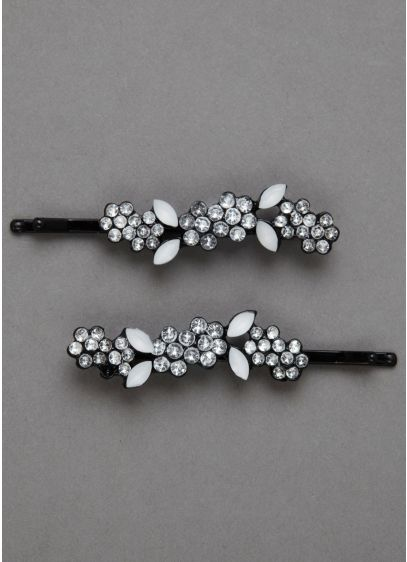 Rhinestone Accented Bobby Pins - Wedding Accessories