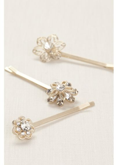 Set of Three Floral Hair Bobby Pins HPMS251414