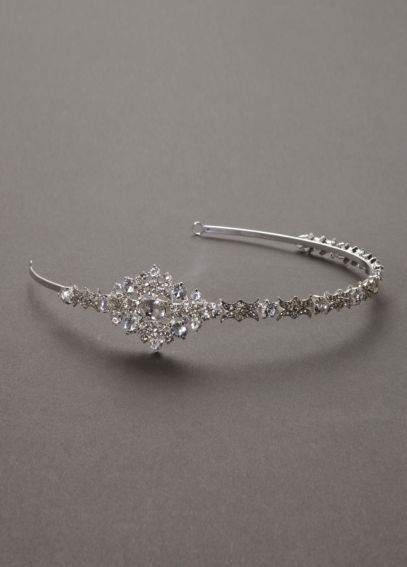 Crystal Embellished Headband with Geometric Motif HWG3220