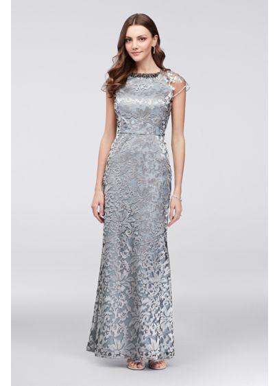 Long A-Line Cap Sleeves Formal Dresses Dress - Ignite