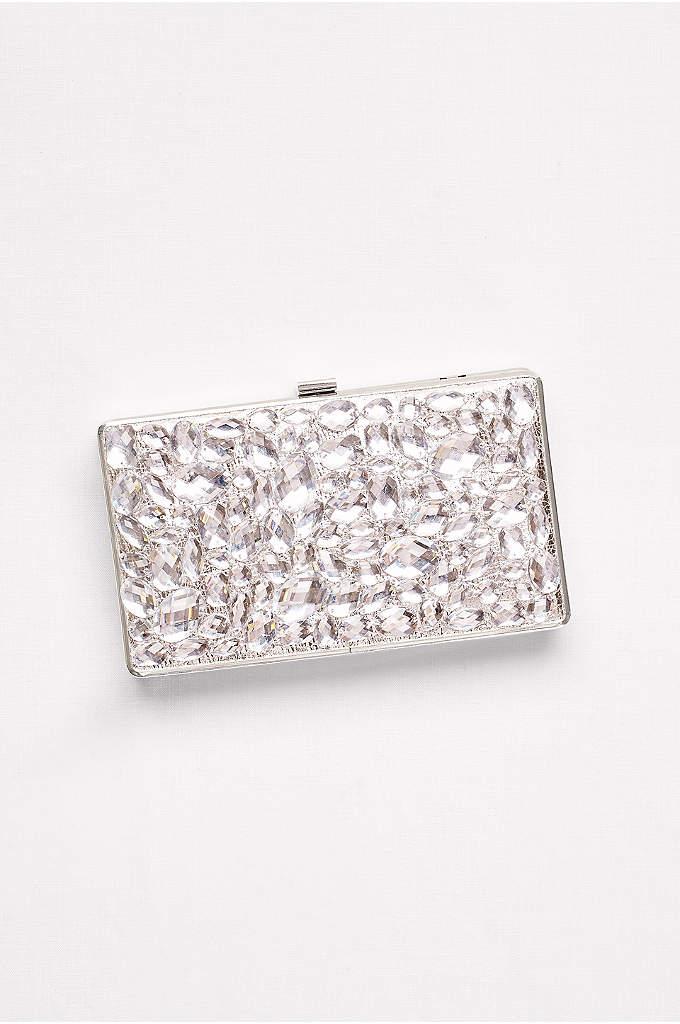 Large Gem Minaudiere - Bold gems give this hard-framed clutch a big
