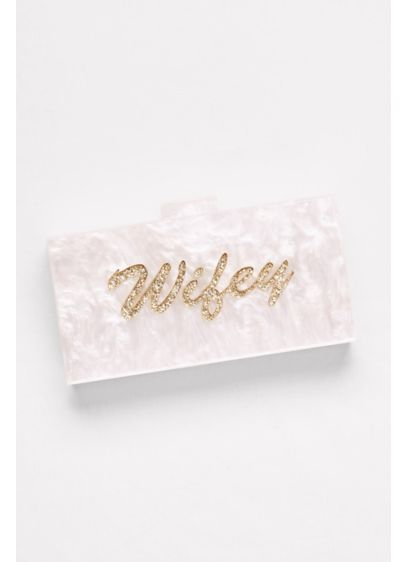 Lucite Wifey Minaudiere - Wedding Accessories