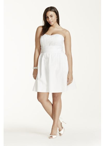 Short Strapless Cotton Sateen Dress INT83312