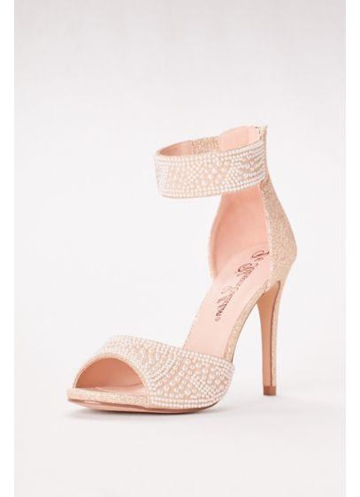 Blossom White (High Heel Pearl-Embellished Peep Toe Sandals)