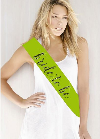 Glitter Print Bride To Be Sash - Wedding Gifts & Decorations