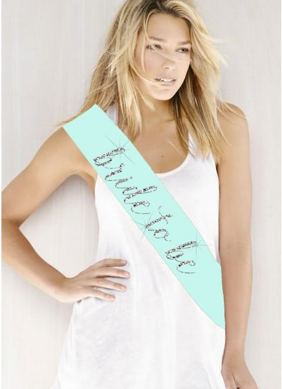 White (Glitter Print Bride To Be Sash)