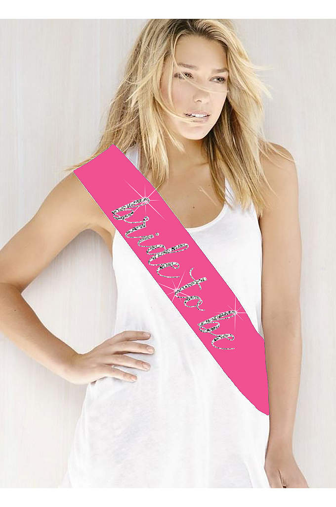 Glitter Print Bride To Be Sash - Double -faced satin sash embellished with 'Bride to