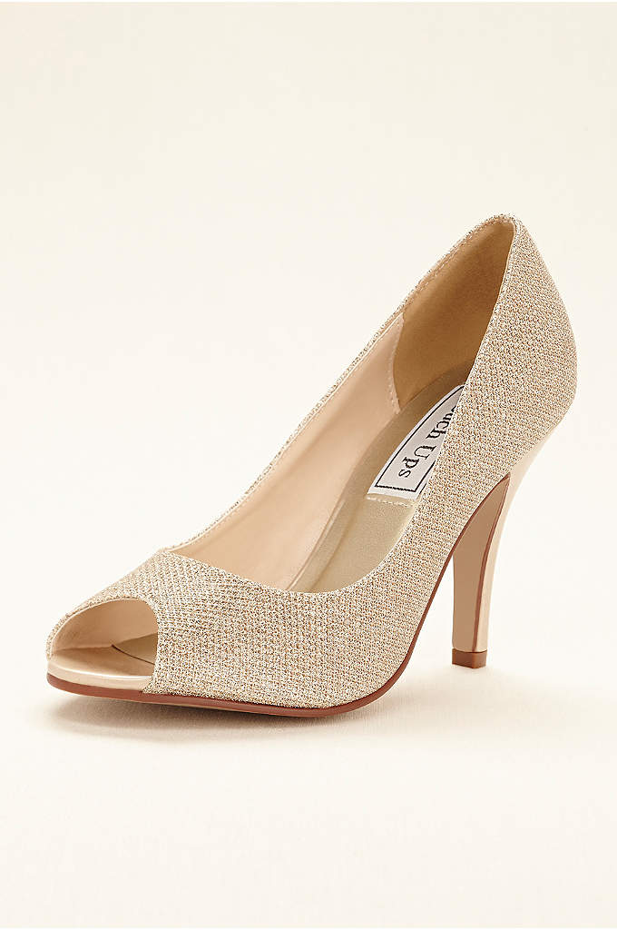 Ice Peeptoe Pump by Touch Ups - Simplistic yet eye-catching, this elegant peep toe pump
