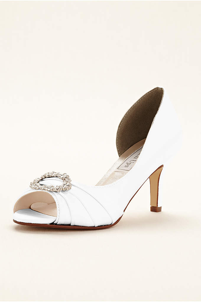 Ivanna Dyeable Peeptoe Pump by Touch Ups - Complete your bridal look with these gorgeous dyeable