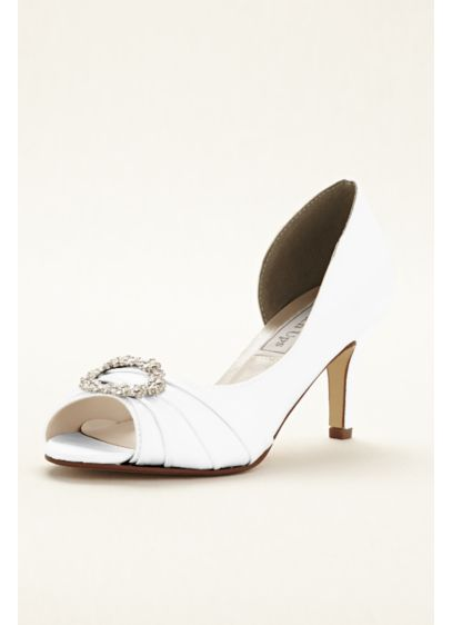 Touch Ups White (Ivanna Dyeable Peeptoe Pump by Touch Ups)