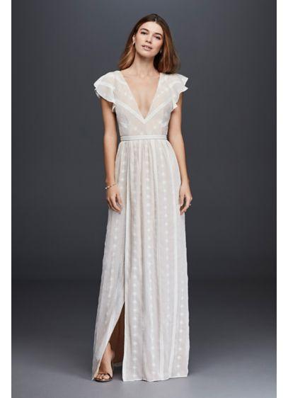Long Sheath Beach Wedding Dress - The Jetset Diaries