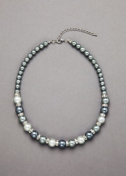 Pearl and Crystal Necklace J5510N