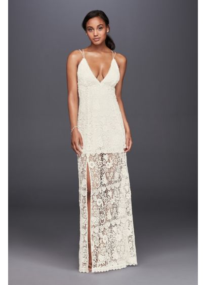 Long Sheath Beach Wedding Dress - The Jetset Diaries