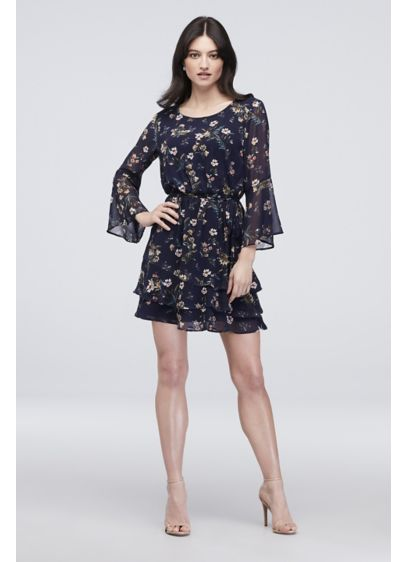 Short A-Line Long Sleeves Cocktail and Party Dress - Speechless
