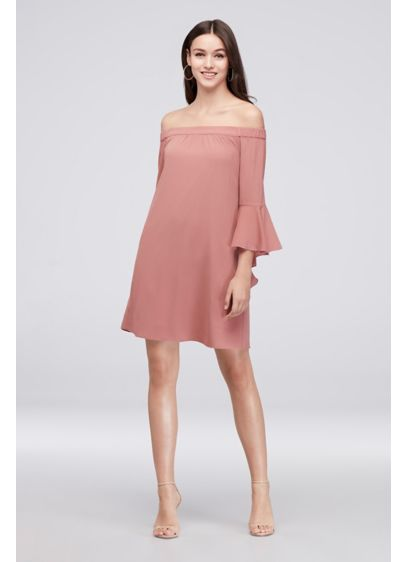 Short Sheath Off the Shoulder Cocktail and Party Dress - Speechless