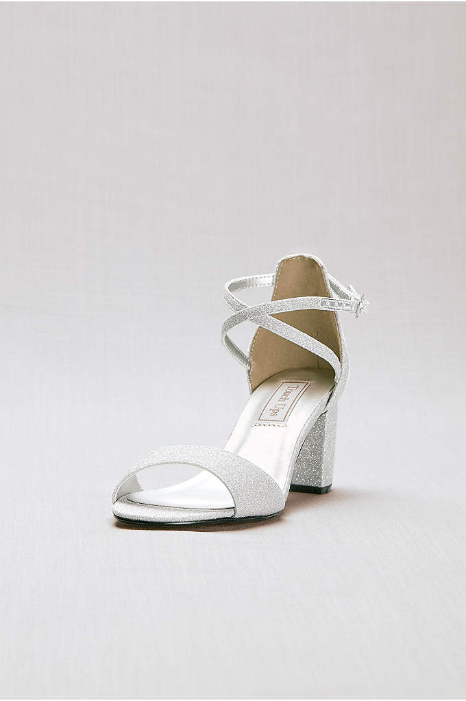 Crisscross Strap Mid-Heel Sandals - Dainty straps cross flatteringly at the ankle on