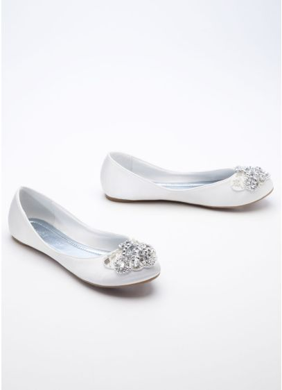 Ivory (Ballet Flat with Beaded Design)