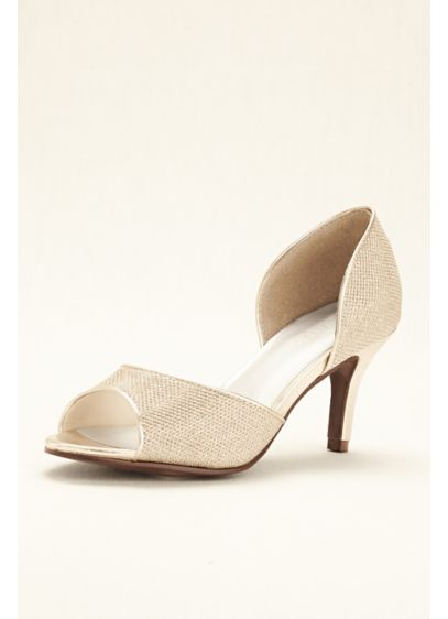 David's Bridal Grey (Peep Toe D'Orsay Glitter Heel)
