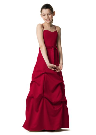 Satin Ball Gown with Pickup Skirt and Sash JB2233