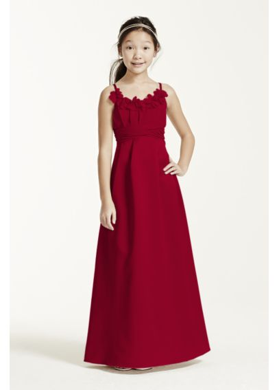 Satin and Chiffon Ball Gown with Ruched Waist JB4062