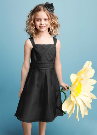 Sleeveless Organza Dress with Pleating JB5159