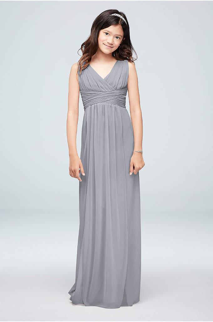 Long Sleeveless Mesh Dress