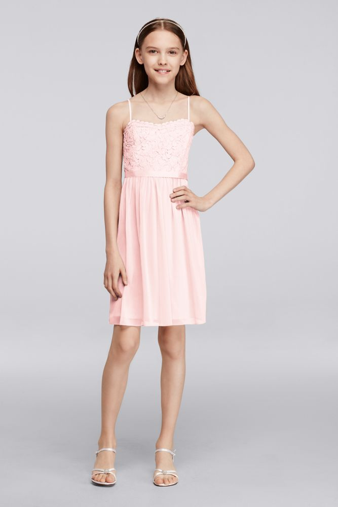 Short Lace Mesh Junior Bridesmaid Dress Style Jb9288 Ebay