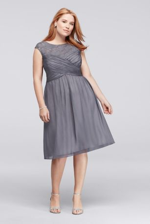 Plus size dress grey