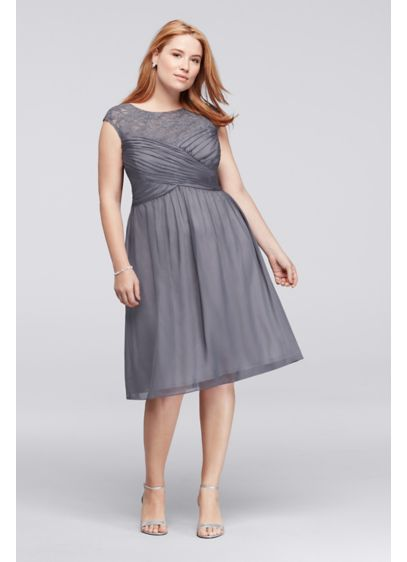 Short A-Line Cap Sleeves Cocktail and Party Dress - Sangria