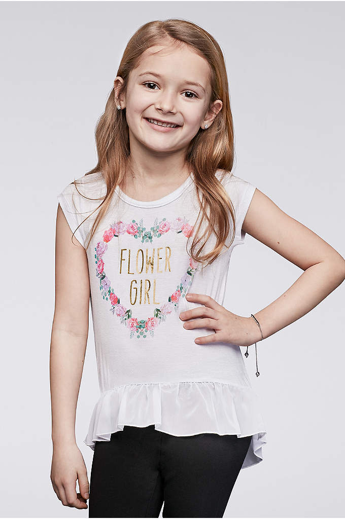 Flower Girl Peplum Tee - The littlest lady in your wedding party deserves