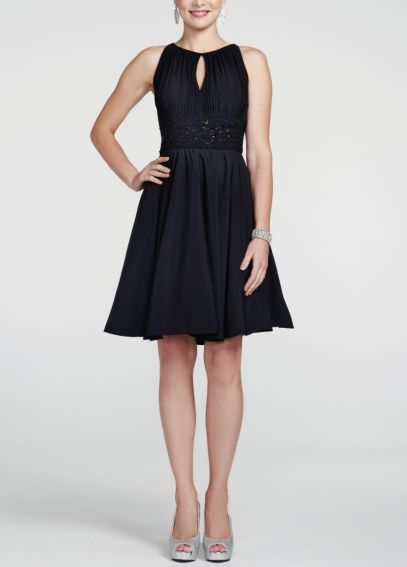 Sleeveless Jersey Dress with Key Hole Detail JH3M3193