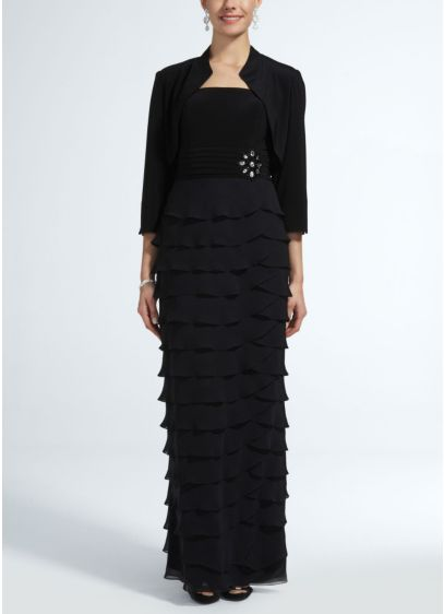 Long Sheath 3/4 Sleeves Mother and Special Guest Dress - Jessica Howard