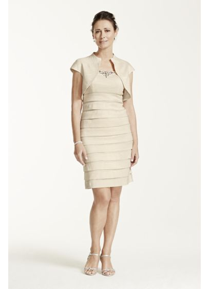 Short Sheath Jacket Cocktail and Party Dress - Jessica Howard