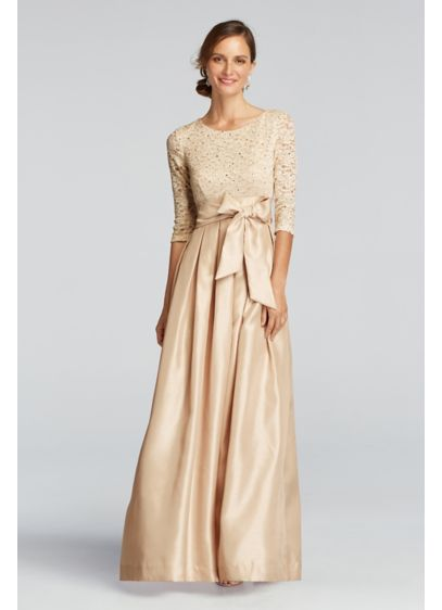 Long Ballgown 3/4 Sleeves Military Ball Dress - Jessica Howard