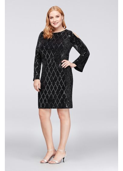 Short Sheath Off the Shoulder Cocktail and Party Dress - Jessica Howard