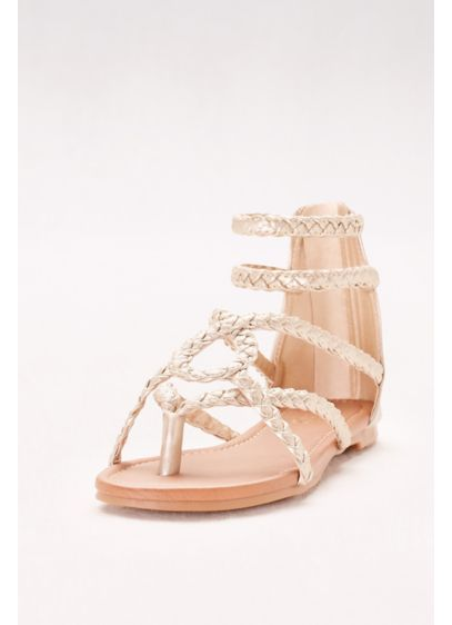 Dreams Beige (Strappy Braided Gladiator Sandals)