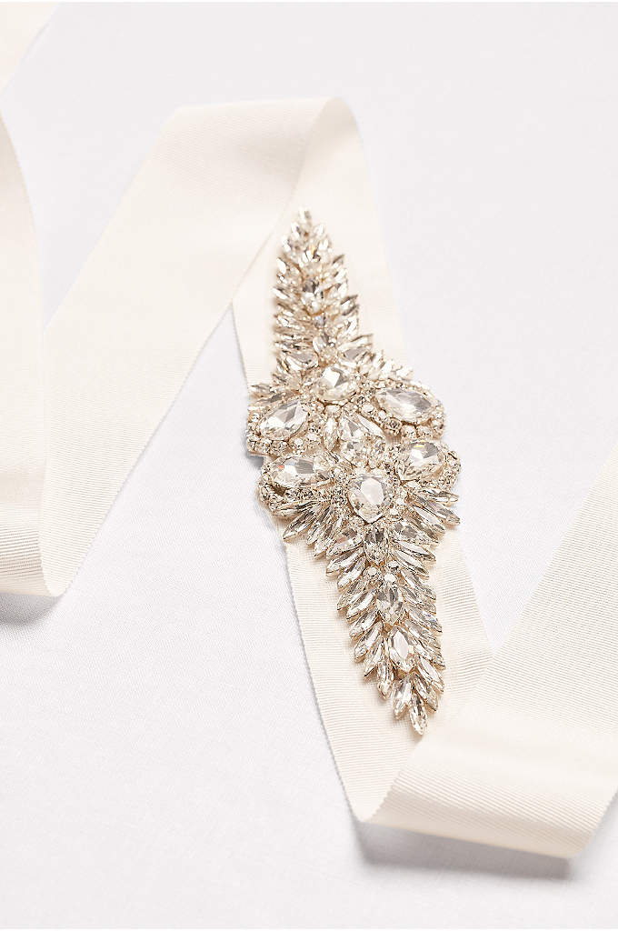 Crystal Marquee Cluster Sash - Featuring Wonder by Jenny Packham's signature crystal work,