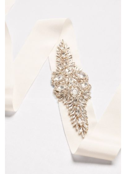 Crystal Marquee Cluster Sash - Wedding Accessories