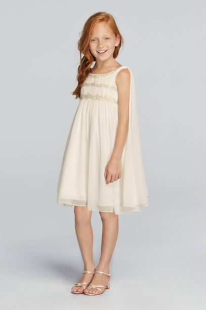 Chiffon Flower Girl Dress with Back Streamers | David's Bridal