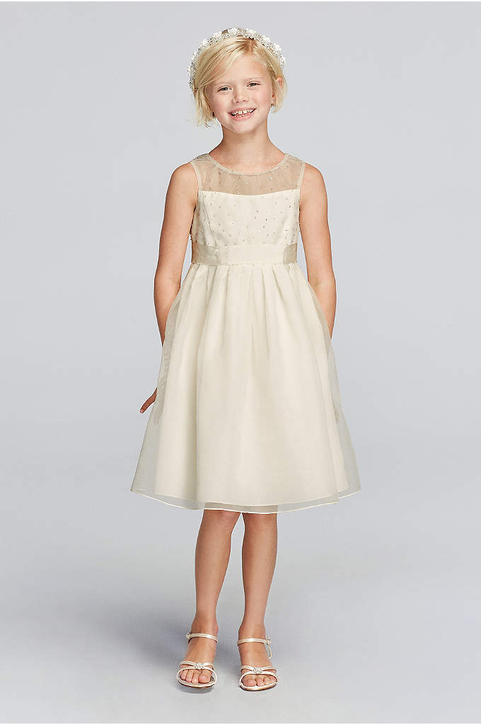 Tank Organza Dress With Ribbon Waist - Watch your little princess as she beams with