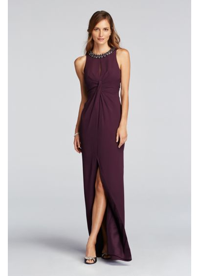 Long Purple Soft & Flowy Wonder by Jenny Packham Bridesmaid Dress
