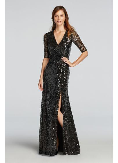 Long Black Soft & Flowy Wonder by Jenny Packham Bridesmaid Dress