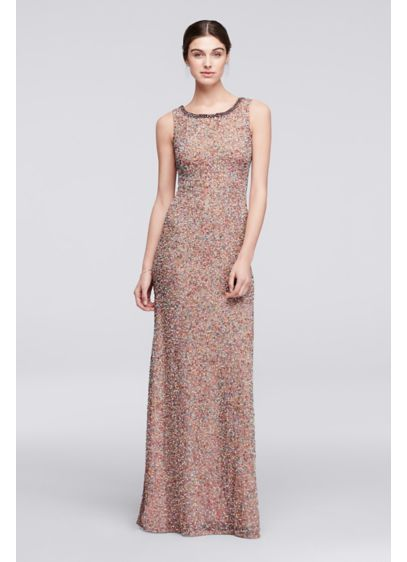 Long Pink Soft & Flowy Wonder by Jenny Packham Bridesmaid Dress