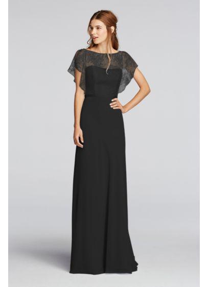 Long Blue Soft & Flowy Wonder by Jenny Packham Bridesmaid Dress